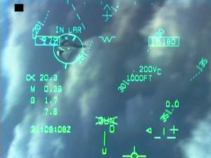 HUD Gun Symbol di F-18